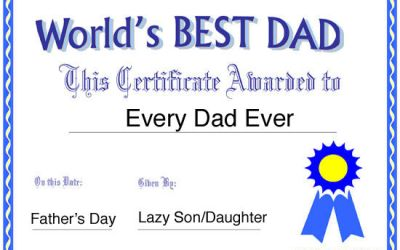 "81.  Say Thanks to the ""World's Best Dad"""