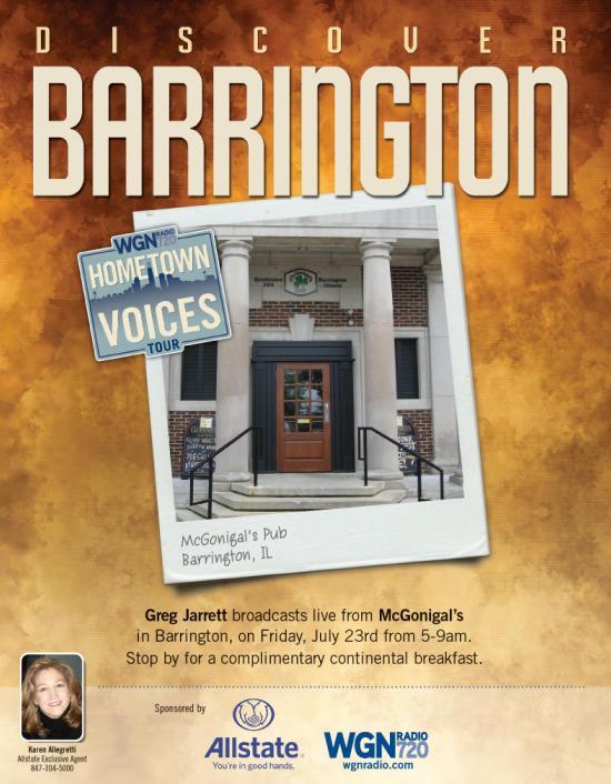 WGN Radio Live Broadcast in Barrington