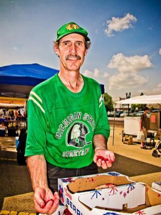 Wayne Miller at the Barrington Farmers Market