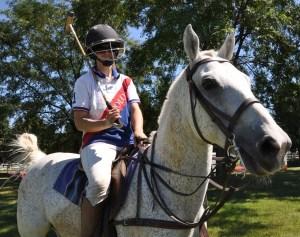Megan West of the Barrington Hills Polo Club