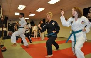 Practicing Techniques at Tiger Martial Arts