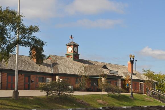 Commuter Train Station in Barrington, Illinois