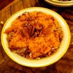 Tips to garnish a sweet potato casserole at Thanksgiving