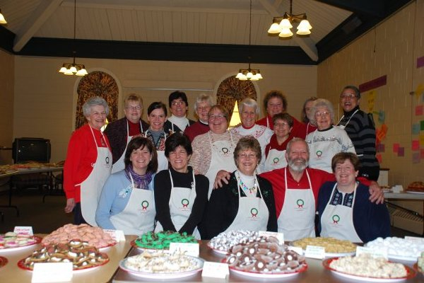 Church Ladies Bake Like Crazy for the Community Church of Barrington Annual Cookie Walk