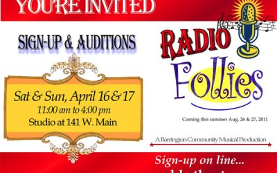 3.  Audition for the First Barrington Community Follies