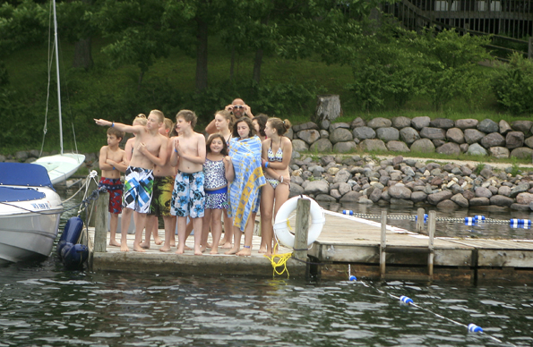 Kids Swim Open Waters at Camp Edwards with English Channel Swimmer, Doug McConnell