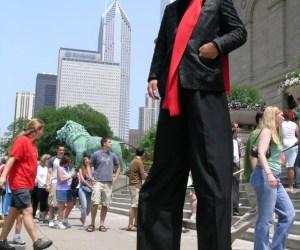 42.  Take a Stroll with Stilt Man Frank Birdsall