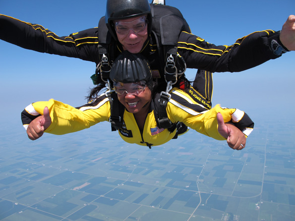 Ellaine Sambo-Reyther Skydiving, Courtesy of the U.S. Army Golden Knights