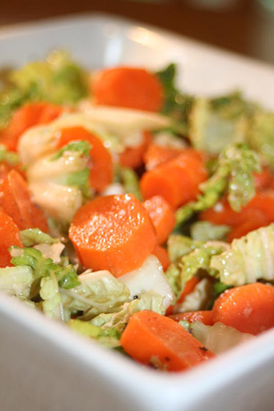 Post 300 - Carrot & Napa Cabbage Salad