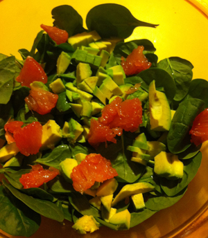 ... 300 - Kelly Donlea's Quinoa, Spinach, Avocado and Grapefruit Salad