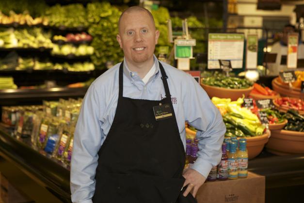 Heinen's Produce Manager, Ken McHeel - Photographed by Julie Linnekin