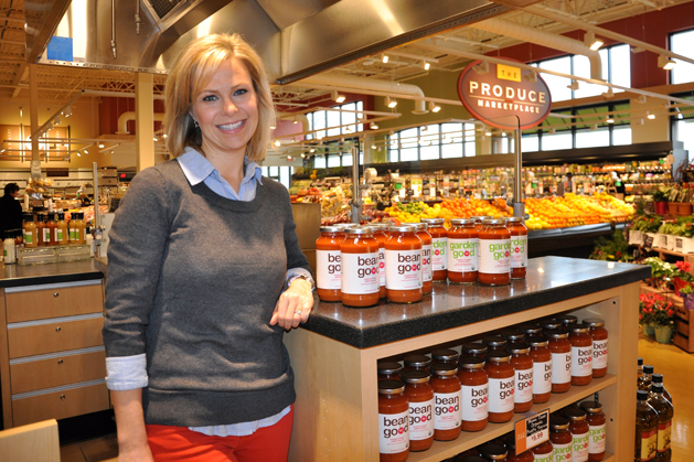 Mama Jess Pasta Sauce Founder, Jessica Grelle at Heinen's Grocery in Barrington