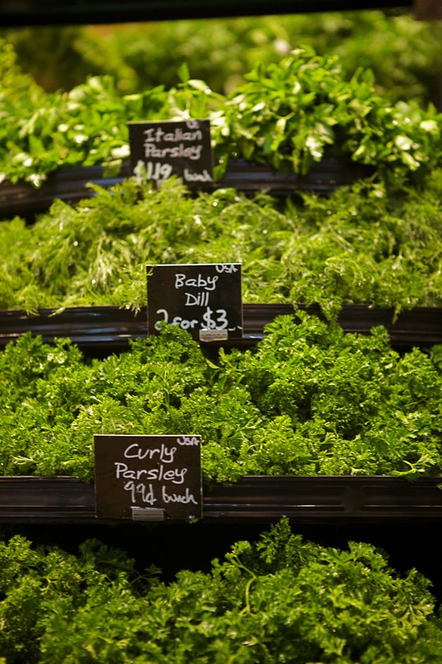 Organics at Heinen's Fine Foods - Photographed by Julie Linnekin