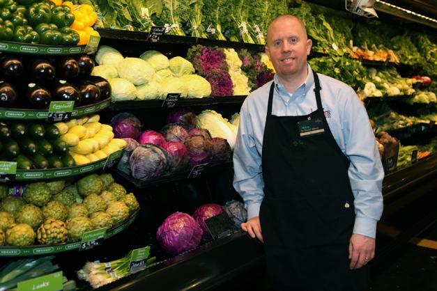 Ken McKeel at Heinen's Organics Wet Rack - Photographed by Julie Linnekin