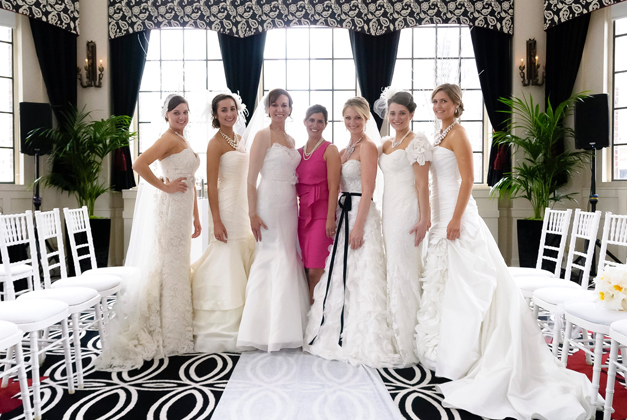 Christina Currie (center) with Brides - Courtesy of Lenswork Studios