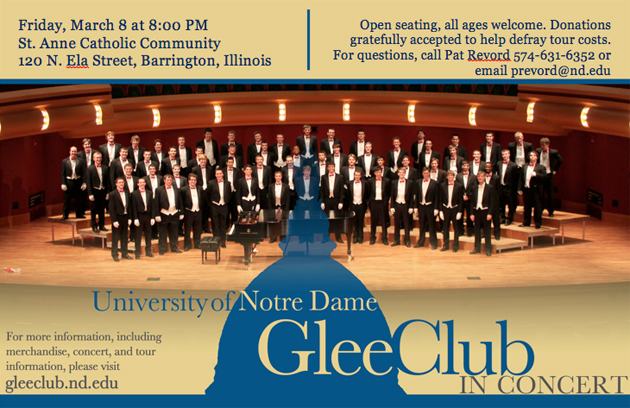 Post - University of Notre Dame Glee Club Concert