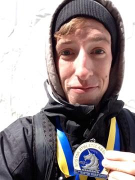 Post 300 - Tom Root with Boston Marathon Medal