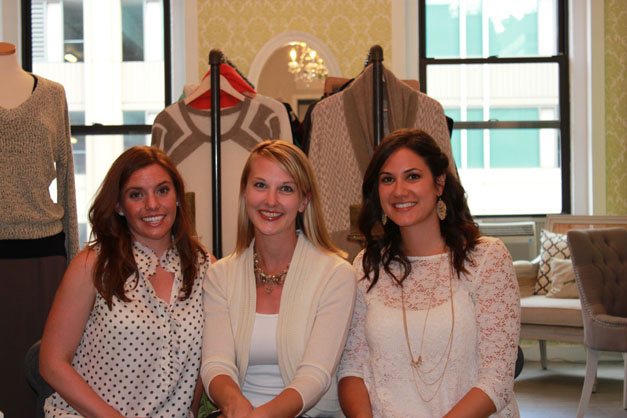 LUXE wearhouse's Annie Lang, Marcy Sparr and Amanda Buckingham.