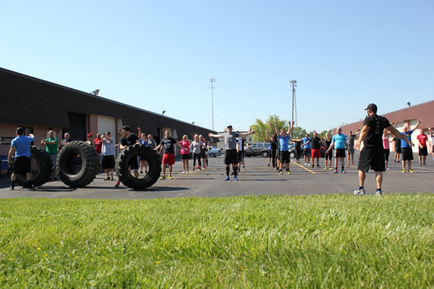 CrossFit Outdoor Workout - Photo Courtesy of CrossFit Barrington