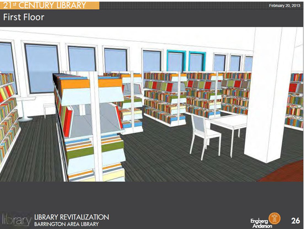 Barrington Area Library - New Shelving Rendering