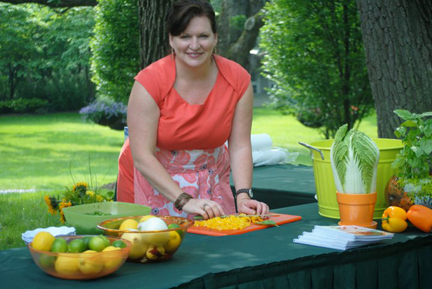 Chef Kelly Donlea at the Barrington Country Garden & Antique Faire - Courtesy of Kelly Donlea