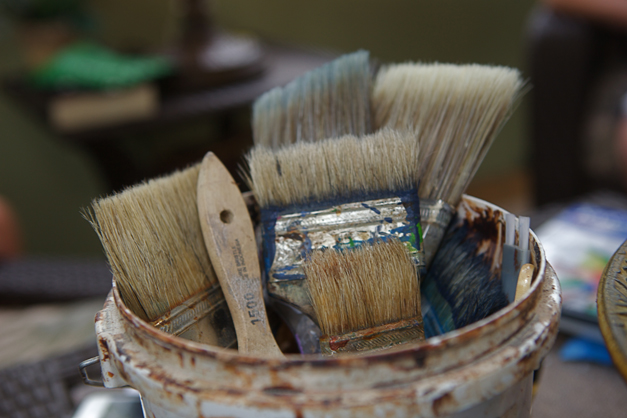 Bella Muri Paint Brushes - Photographed by Julie Linnekin