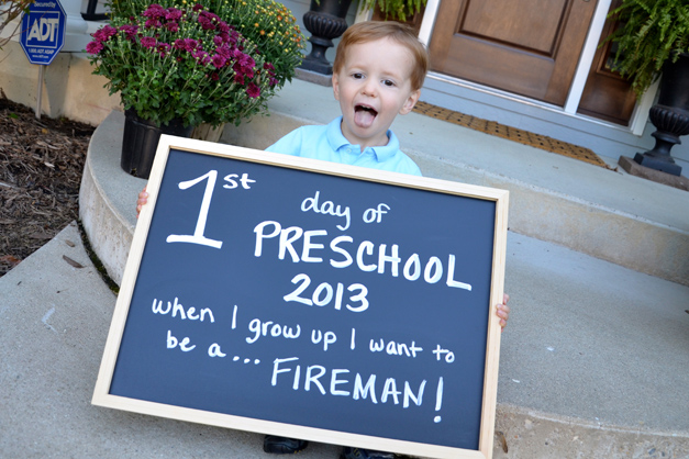 First day of preschool for the little guy! So excited to be starting at Salem this year! - Submitted by mom, Courtney