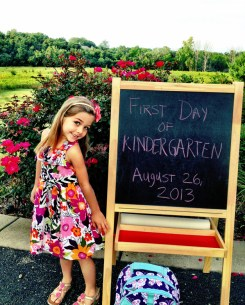 Stop and smell the roses, off to kindergarten! - Submitted by mom, Lindsey