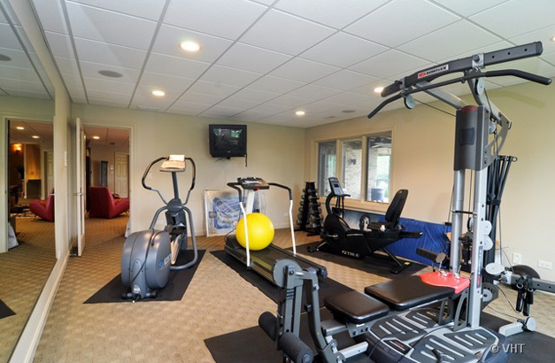 Lower Level Exercise Area at 205 Honey Lake Court  - Listed for Sale by Suzanne & Liz Luby of The Luby Group & Coldwell Banker Residential Brokerage
