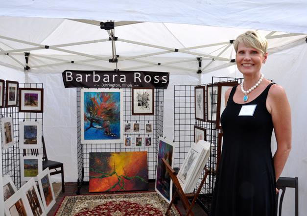 Veronica Roth's Mother, Barbara Ross, at Deer Park Town Center's ARTumn Harvest September Art Festival