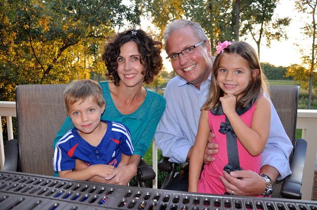 The Brebach Family at Home in Lake Barrington