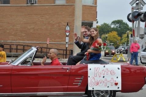 Courtney Quigley in the Barrington Homecoming Parade 2013