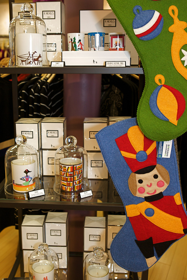 Candles by R. Nichols and Stockings by Barrington's own My Perennial - photographed by Julie Linnekin