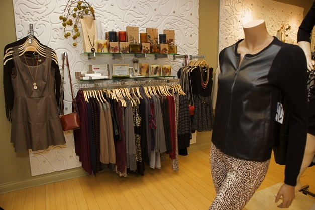Hot new leather-look pieces are great for fall & winter - photographed by Julie Linnekin