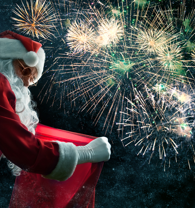 Santa's Arrival and Fireworks Extravaganza at Deer Park Town Center - Friday, November 8th from 6 p.m. to 8:30 pm.