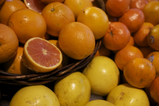 Citrus is in the spotlight right now at Heinen's - Photographed by Julie Linnekin