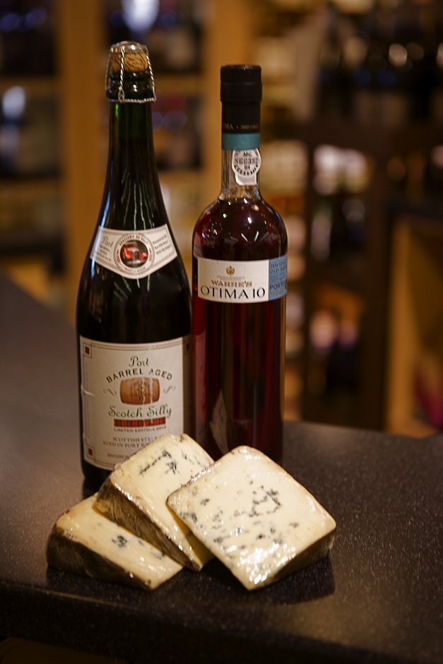 Port-barrel-aged Scotch Silly and Warre's Otima 10 would be perfect pairings for the Rogue River blue cheese - Photographed by Julie Linnekin