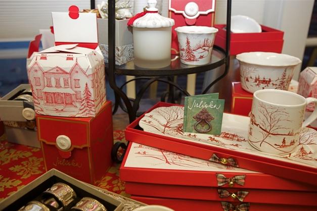 Juliska's Winter Frolic line of tableware is beautiful and collectible - Photographed by Julie Linnekin