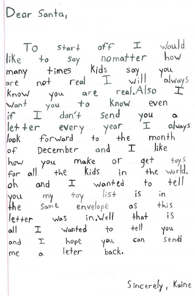Barrington Santa Letters, 2013