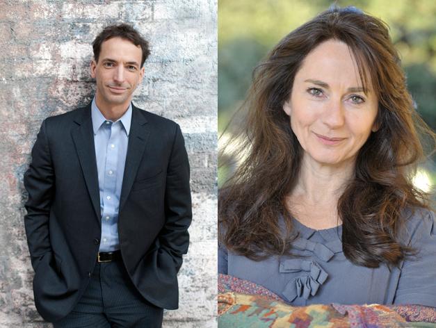 Photographs of author Paul Tough and author Rachel Joyce