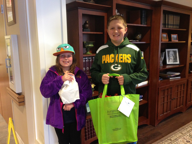 Ella and bobby Beaubien leaving to deliver soup and blankets - Photo Submitted by Kelly Henry