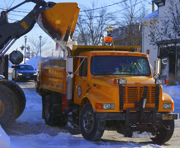 Barrington Snow  Removal Crews at Work - Photographed by Peter Yankala