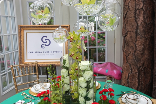Christina Currie Events will create a wedding-themed Garden Party Vignette for this year's event - Photographed by Julie Linnekin