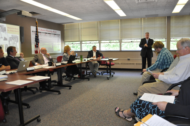 New Barrington 220 School Superintendent Dr. Brian Harris Addresses Board of Education
