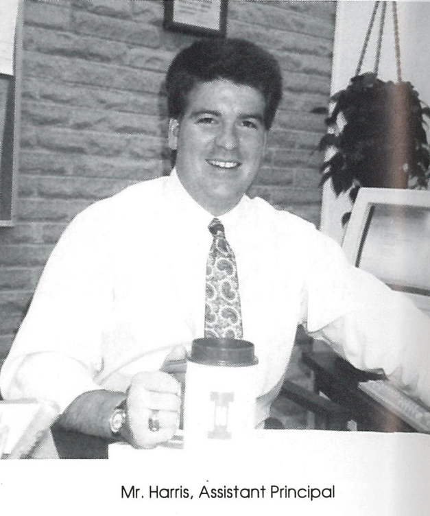 New Barrington 220 Superintendent Dr. Brian Harris during his days as Barrington Middle School - Station Campus Assistant Principal