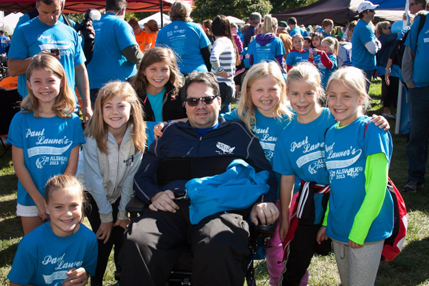 "Paul Launer's ""Iron Horse Brigade"" in the 2013 ALS Walk for Life - Photo by Bob Lee"