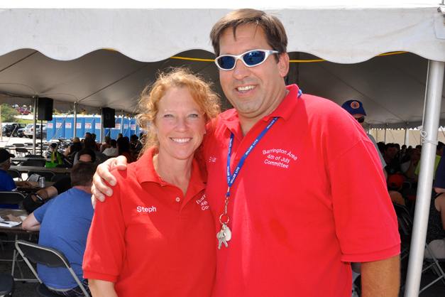 Organizers, Stephanie and Brian Cecola at the 2013 Brat Tent