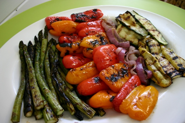 A rainbow of grilled veggies