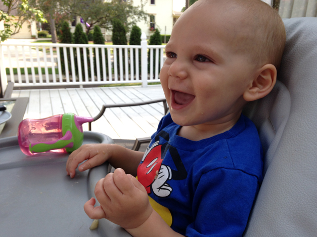 A happy baby makes all dinners enjoyable