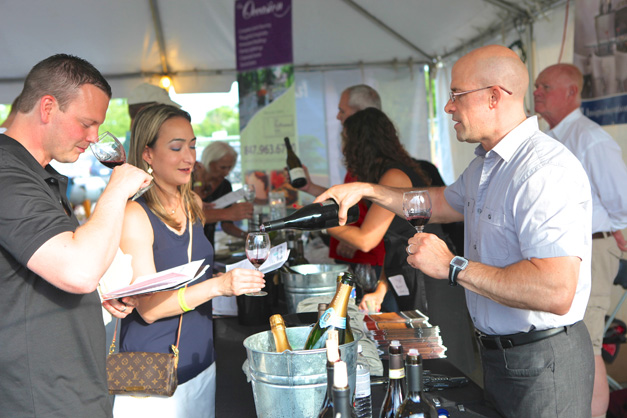 Wine tasting at Uncork - Photograph by Julie Linnekin